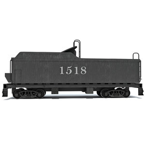 coal carrying car steam train 3d model