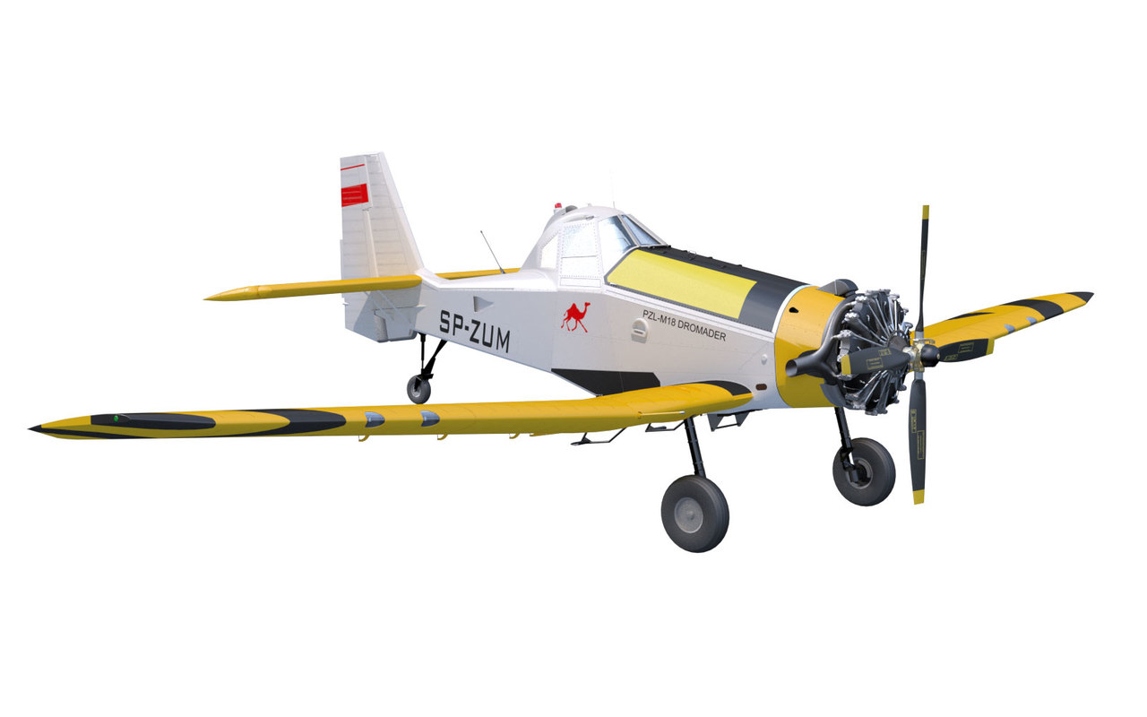 m-18 dromader airplane max