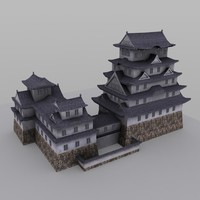 3d japanese temple building model