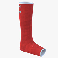 orthopedic cast leg 3d c4d