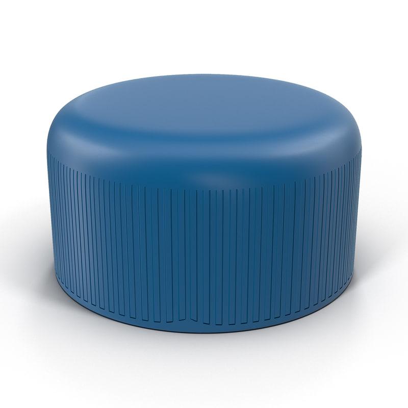 plastic bottle cap 3d max