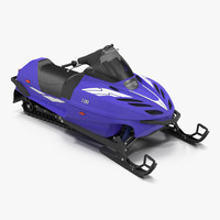 snowmobile generic rigged 3d model