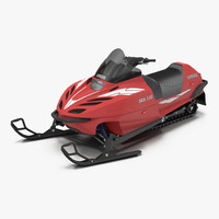 3d max snowmobile yamaha rigged
