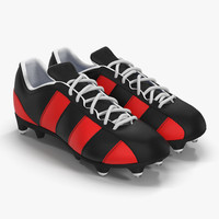 football boots 2 red c4d