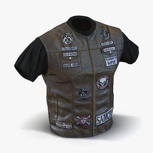 biker vest 2 3d model
