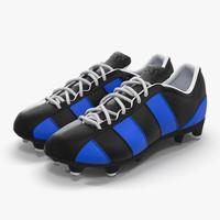 3d football boots 2 blue