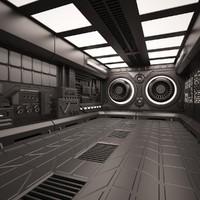 sci fi interior room max