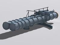 3d dta-53 torpedo tube