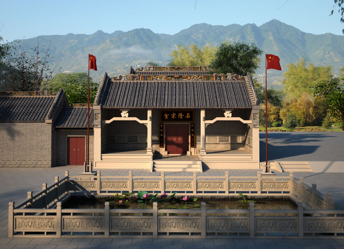 chinese house architecture 3d max