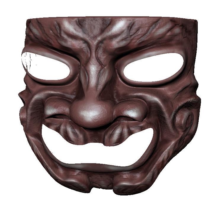 3d mask samurai model