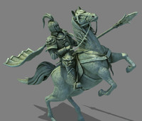 statue generals riding commander 3d max