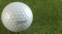 golf ball titleist 3d model