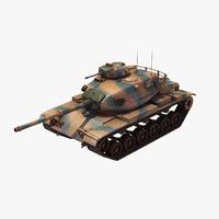 3d max m60a3 battle tank turkish