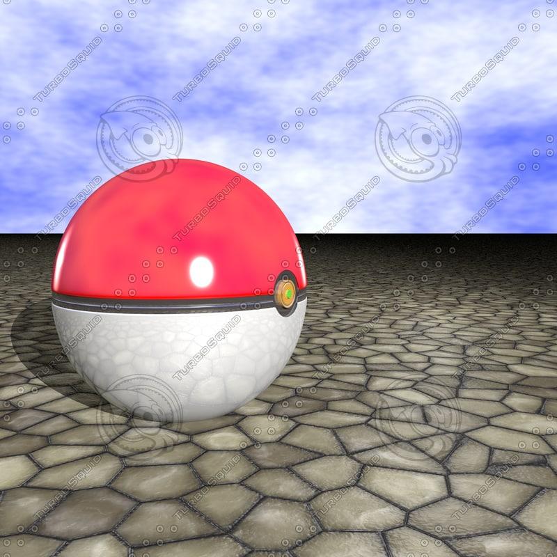 3d pokeball model