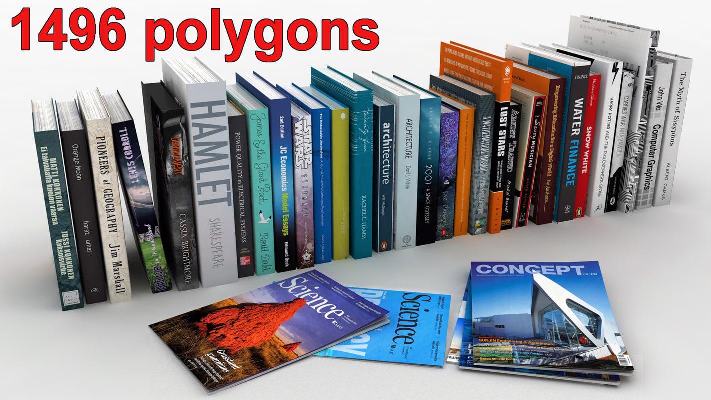 books magazines 3d max