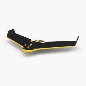 3d model of sensefly ebee drone plane
