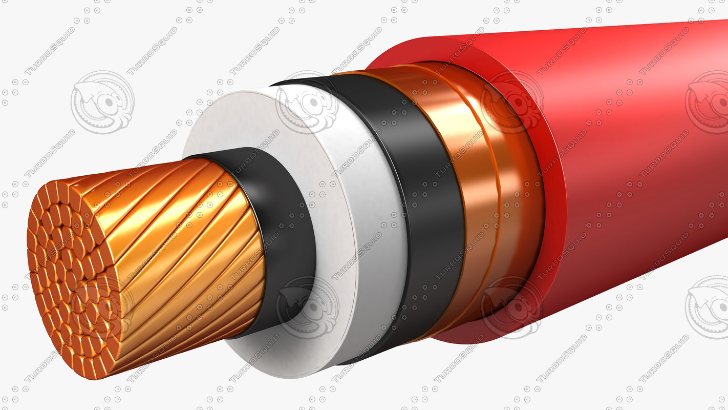electrical cables medium voltage 3d max