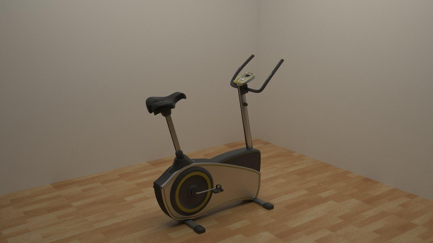 stationary bike 3d model