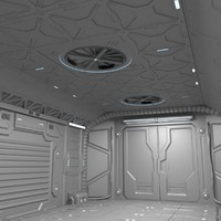Sci-Fi hall environment