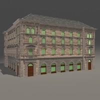 eclectic building 3d max