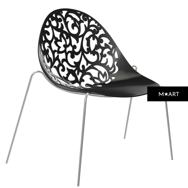 modern chair lace obj