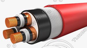 electrical cables medium voltage 3d max