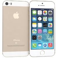 apple iphone se gold 3d model