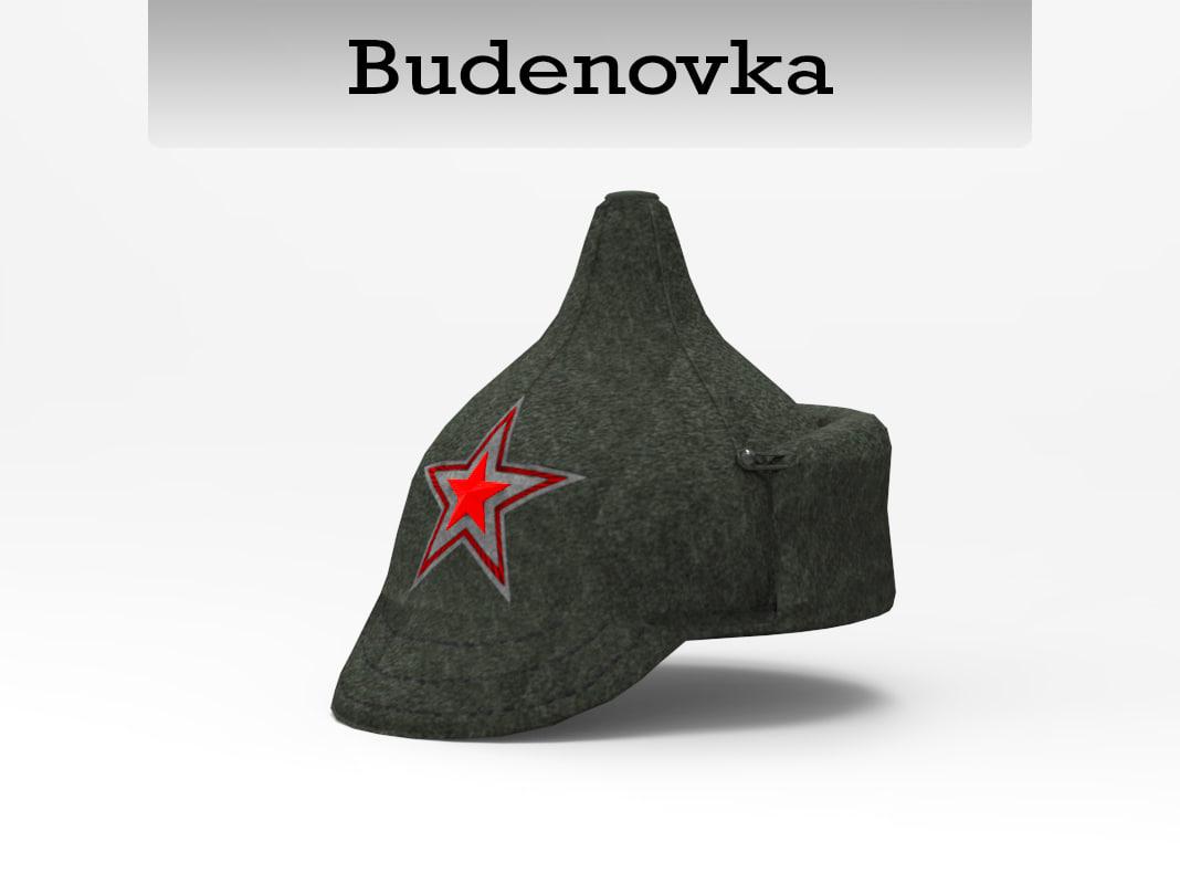 3d model budenovka