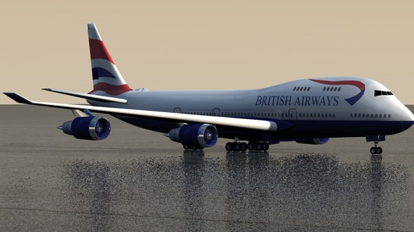 british uk airlines 3d c4d