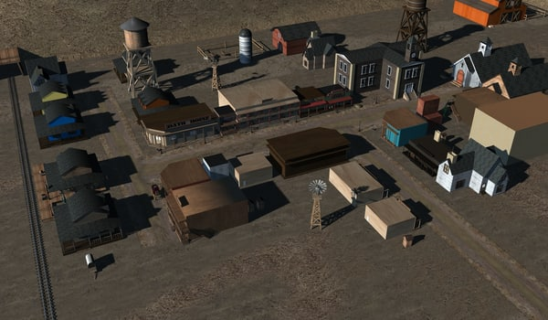 3d model old west town