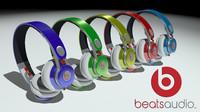 beats earphones 3d model