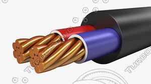 electrical cables multi core 3d model