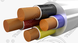 3d max electrical cables multi core