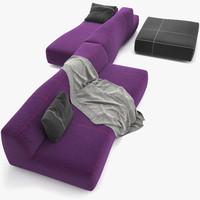 3d bend sofa model