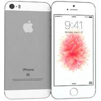 3d apple iphone se silver model