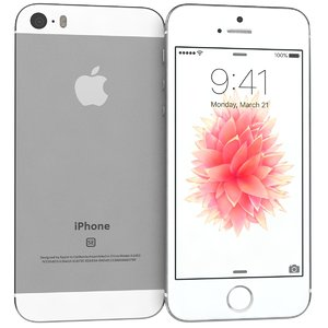 3d apple iphone se silver model