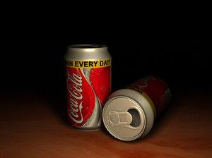 coca cola 3d max