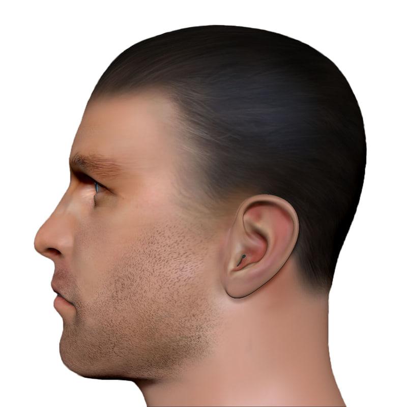 male head man 3d model