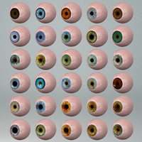 human eye 30 sets 3d 3ds