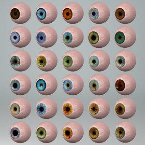 human eye 30 sets 3d 3ds