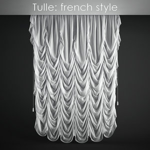 tulle french style 3d model