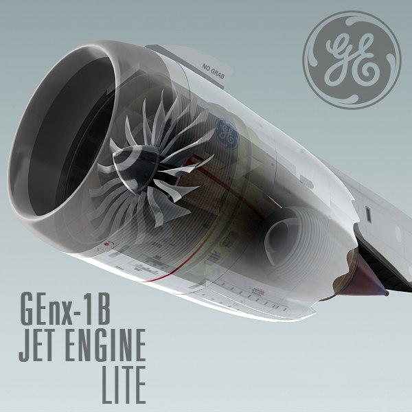 genx-1b jet engine lite 3d 3ds