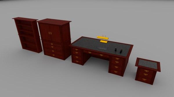 3d office furniture pack model