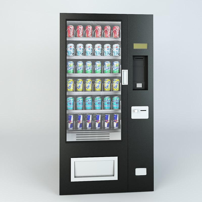 3d model machine drinks
