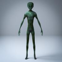 3d model grey alien