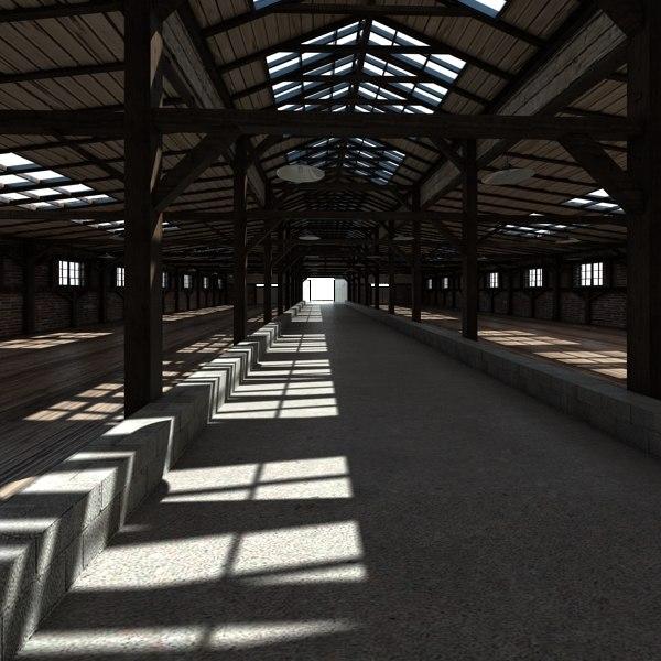 farm interior 3d model