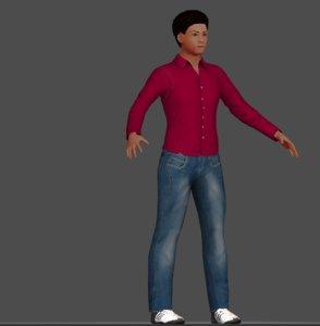 3d human guy male