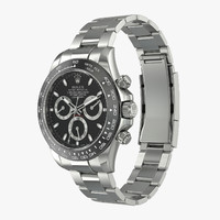 3d model rolex daytona cosmograph steel