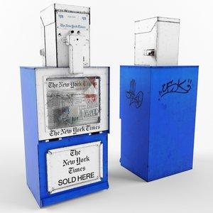 3d new york newspaper dispenser