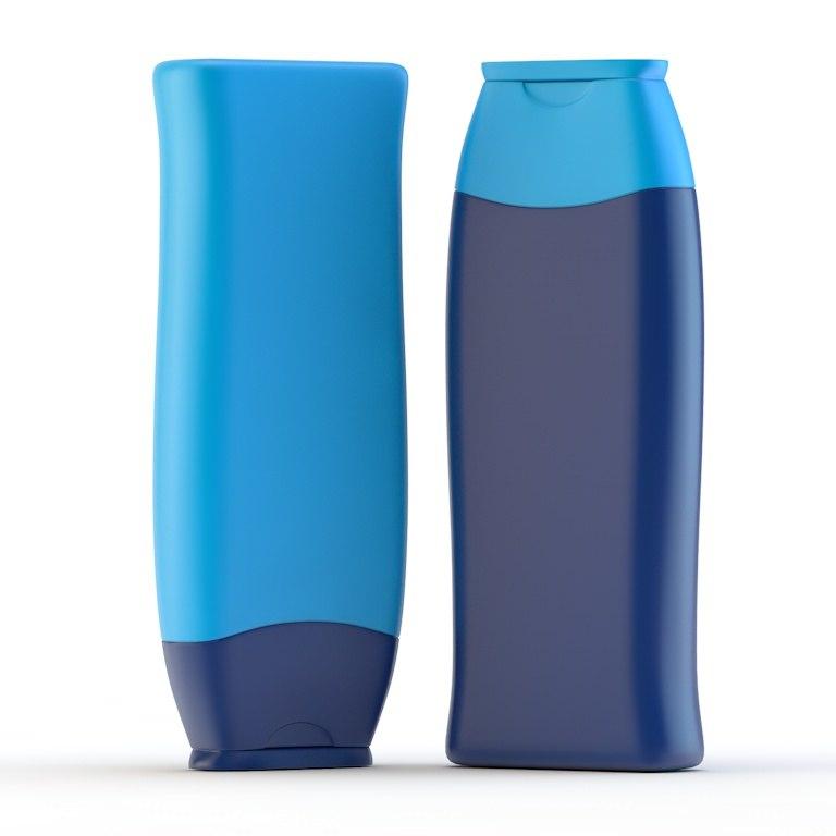 3d model bottle shampoo